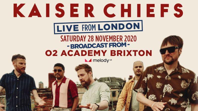 Kaiser Chiefs élő kanapékoncert Londonból