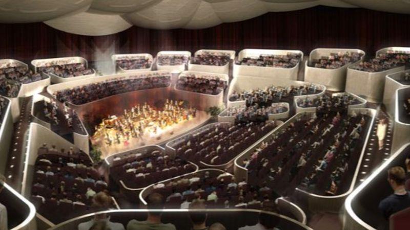 Mire 2025-ben megnyílik a futurisztikus kinézetű varsói Sinfonia Concert Hall, addigra talán mehet a telt ház is...