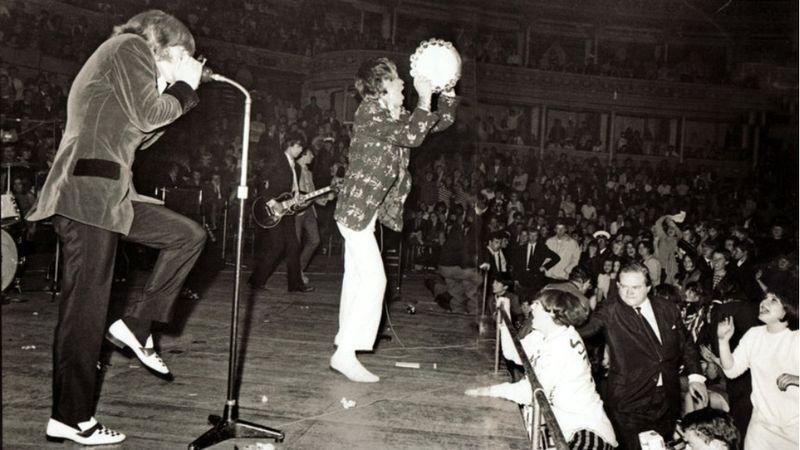 A Stones a Royal Albert Hallban 1966. szeptember 23-án (Fotó: ROAH)