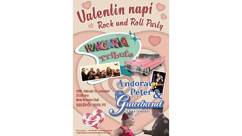 Valentin napi Rock and Roll Party - A Hotel Mentholtól a Heartbreak Hotelig