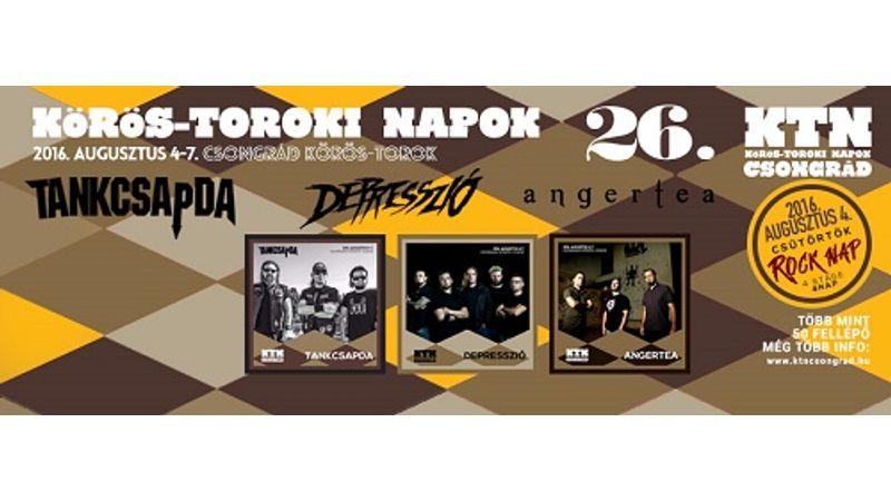 Hazánk leghangulatosabb koncerthelyszínén rock nappal startol a 26. Körös-Toroki Napok