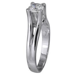 Δαχτυλίδι μονόπετρο 18 K με διαμάντι 001444 Χρυσός 18 Καράτια
