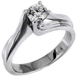 Μονόπετρο δαχτυλίδι Κ18 014136 014136 Χρυσός 18 Καράτια