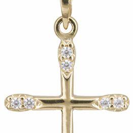 Βαπτιστικοί Σταυροί με Αλυσίδα Χρυσός σταυρός 14 καράτια C002448 002448C Γυναικείο Χρυσός 14 Καράτια