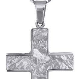 Βαπτιστικοί Σταυροί με Αλυσίδα Λευκόχρυσοι ανδρικοί σταυροί 9Κ C012489 012489C Ανδρικό Χρυσός 9 Καράτια