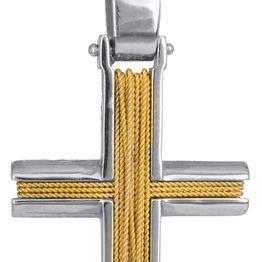 Βαπτιστικοί Σταυροί με Αλυσίδα ΔΙΧΡΩΜΟΣ ΣΤΑΥΡΟΣ 14Κ ΜΕ ΚΑΔΕΝΑ 014272C Ανδρικό Χρυσός 14 Καράτια