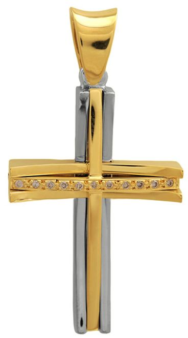 Βαπτιστικοί Σταυροί με Αλυσίδα Σταυρός βάπτισης Κ18 002345C Γυναικείο Χρυσός 18 Καράτια