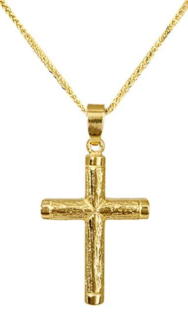Βαπτιστικοί Σταυροί με Αλυσίδα Σταυρός Χρυσός με αλυσίδα 010101C Γυναικείο Χρυσός 14 Καράτια