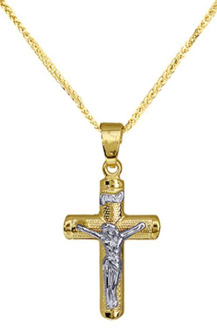 Βαπτιστικοί Σταυροί με Αλυσίδα Χρυσός σταυρός ανάγλυφος 010105C Ανδρικό Χρυσός 14 Καράτια