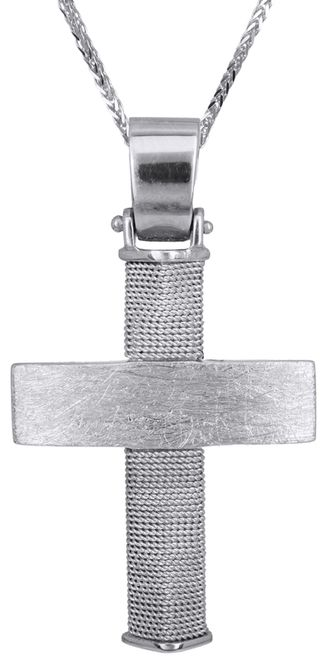 Βαπτιστικοί Σταυροί με Αλυσίδα Χειροποίητος συρματερός σταυρός 14Κ με αλυσίδα 011466C Ανδρικό Χρυσός 14 Καράτια