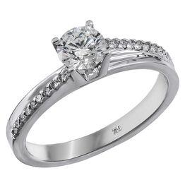 Λευκόχρυσο δαχτυλίδι 18Κ με διαμάντια 011590 011590 Χρυσός 18 Καράτια