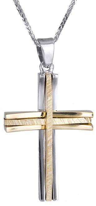 Βαπτιστικοί Σταυροί με Αλυσίδα ΑΝΤΡΙΚΟΣ ΣΤΑΥΡΟΣ 18Κ ΜΕ ΑΛΥΣΙΔΑ 013003C Ανδρικό Χρυσός 18 Καράτια