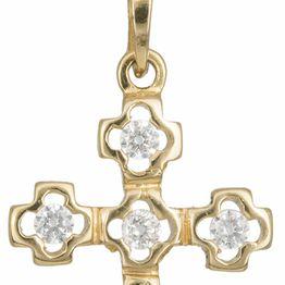 Γυναικείος σταυρός με αλυσίδα Κ14 C012931 012931C Χρυσός 14 Καράτια