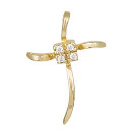 Γυναικείος σταυρός Κ14 012933 012933 Χρυσός 14 Καράτια