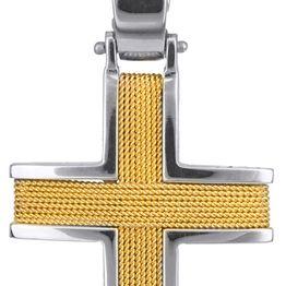 Βαπτιστικοί Σταυροί με Αλυσίδα ΧΕΙΡΟΠΟΙΗΤΟΣ ΣΥΡΜΑΤΕΡΟΣ ΧΡΥΣΟΣ ΣΤΑΥΡΟΣ 14Κ ΜΕ ΑΛΥΣΙΔΑ 011454C Ανδρικό Χρυσός 14 Καράτια