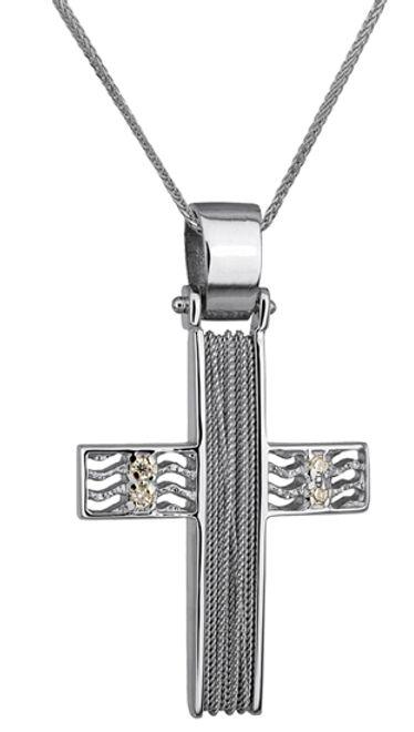 Βαπτιστικοί Σταυροί με Αλυσίδα ΣΤΑΥΡΟΣ ΛΕΥΚΟΧΡΥΣΟΣ 14Κ ΜΕ ΑΛΥΣΙΔΑ 014269C Γυναικείο Χρυσός 14 Καράτια