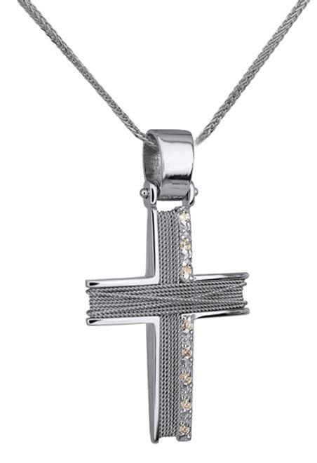 Βαπτιστικοί Σταυροί με Αλυσίδα ΛΕΥΚΟΧΡΥΣΟΣ ΣΤΑΥΡΟΣ ΜΕ ΑΛΥΣΙΔΑ 14Κ 014274C Γυναικείο Χρυσός 14 Καράτια