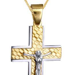 Βαπτιστικοί Σταυροί με Αλυσίδα ΒΑΠΤΙΣΤΙΚΟΣ ΣΤΑΥΡΟΣ Κ9 ΜΕ ΑΛΥΣΙΔΑ 015137C Ανδρικό Χρυσός 9 Καράτια