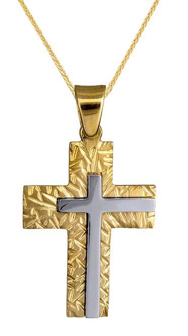 Βαπτιστικοί Σταυροί με Αλυσίδα ΒΑΠΤΙΣΤΙΚΟΣ ΣΤΑΥΡΟΣ ΜΕ ΑΛΥΣΙΔΑ 015144C Ανδρικό Χρυσός 14 Καράτια
