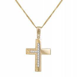 Βαπτιστικοί Σταυροί με Αλυσίδα Xρυσός Βαπτιστικός Σταυρός 14Κ 015238C Γυναικείο Χρυσός 14 Καράτια