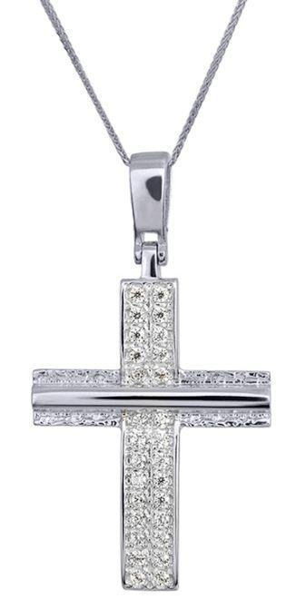 Βαπτιστικοί Σταυροί με Αλυσίδα ΓΥΝΑΙΚΕΙΟΙ ΣΤΑΥΡΟΙ 016176C Γυναικείο Χρυσός 14 Καράτια