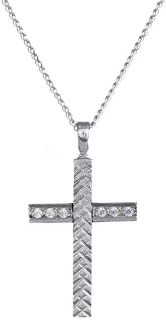Βαπτιστικοί Σταυροί με Αλυσίδα ΣΤΑΥΡΟΙ ΓΥΝΑΙΚΕΙΟΙ C016424 016424C Γυναικείο Χρυσός 14 Καράτια