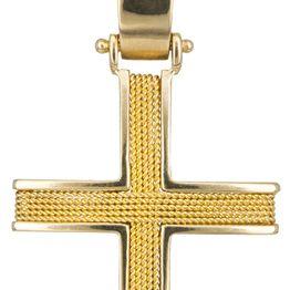 Βαπτιστικοί Σταυροί με Αλυσίδα Σταυρός βάπτισης με αλυσίδα Κ14 C016527 016527C Ανδρικό Χρυσός 14 Καράτια