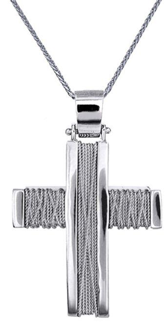 Βαπτιστικοί Σταυροί με Αλυσίδα ΣΤΑΥΡΟΙ ΒΑΠΤΙΣΗΣ ΓΙΑ ΑΓΟΡΙ C016534 016534C Ανδρικό Χρυσός 14 Καράτια