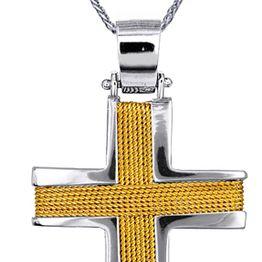 Βαπτιστικοί Σταυροί με Αλυσίδα ΑΝΔΡΙΚΟΙ ΣΤΑΥΡΟΙ ΣΧΕΔΙΑ C016538 016538C Ανδρικό Χρυσός 14 Καράτια