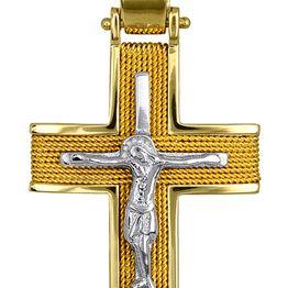 Σταυροί Βάπτισης - Αρραβώνα ΧΕΙΡΟΠΟΙΗΤΟΙ ΣΤΑΥΡΟΙ ΜΕ ΣΥΡΜΑ 016561 016561 Ανδρικό Χρυσός 14 Καράτια
