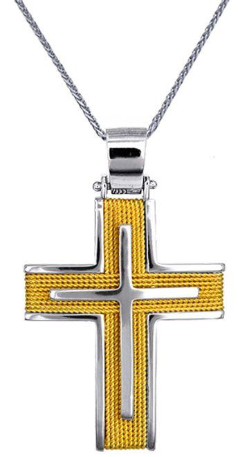 Βαπτιστικοί Σταυροί με Αλυσίδα Χρυσοί Σταυροί Ανδρικοί C016566 016566C Ανδρικό Χρυσός 14 Καράτια