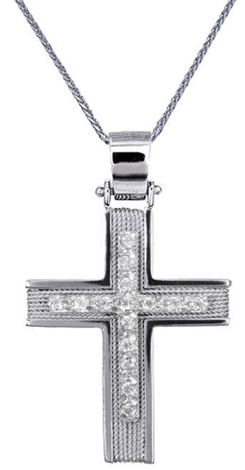 Βαπτιστικοί Σταυροί με Αλυσίδα Σταυρός Βάπτισης για Κορίτσι C016589 016589C Γυναικείο Χρυσός 14 Καράτια