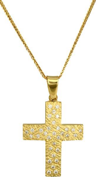 Βαπτιστικοί Σταυροί με Αλυσίδα ΒΑΠΤΙΣΤΙΚΑ ΤΙΜΕΣ C016613 016613C Γυναικείο Χρυσός 14 Καράτια