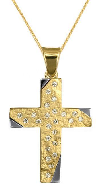 Βαπτιστικοί Σταυροί με Αλυσίδα Βαπτιστικά Πακέτα - Οικονομικοί Χρυσοί Σταυροί 016617C Γυναικείο Χρυσός 14 Καράτια