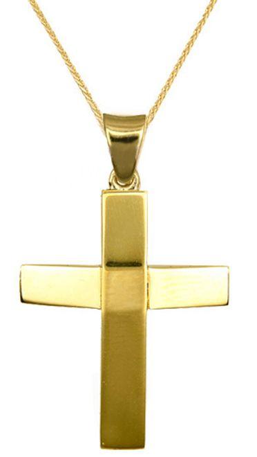 Βαπτιστικοί Σταυροί με Αλυσίδα Βαπτιστικά για Αγόρι 016629C Ανδρικό Χρυσός 14 Καράτια