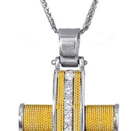Βαπτιστικοί Σταυροί με Αλυσίδα Σταυρός με σύρμα 017091C Γυναικείο Χρυσός 14 Καράτια