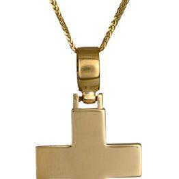 Βαπτιστικοί Σταυροί με Αλυσίδα Σταυρός βαπτιστικός για αγόρι με αλυσίδα 017219C Ανδρικό Χρυσός 14 Καράτια
