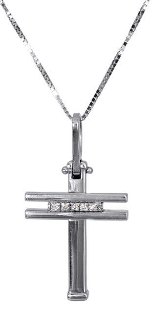 Βαπτιστικοί Σταυροί με Αλυσίδα Γυναικείος σταυρός αρραβώνα 017318 Γυναικείο Χρυσός 18 Καράτια