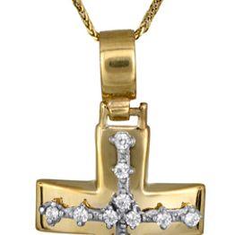 Βαπτιστικοί Σταυροί με Αλυσίδα Σταυρός αρραβώνα c017599 017599C Γυναικείο Χρυσός 14 Καράτια