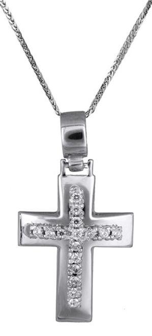Βαπτιστικοί Σταυροί με Αλυσίδα Σταυρός γυναικείος c017601 017601C Γυναικείο Χρυσός 14 Καράτια