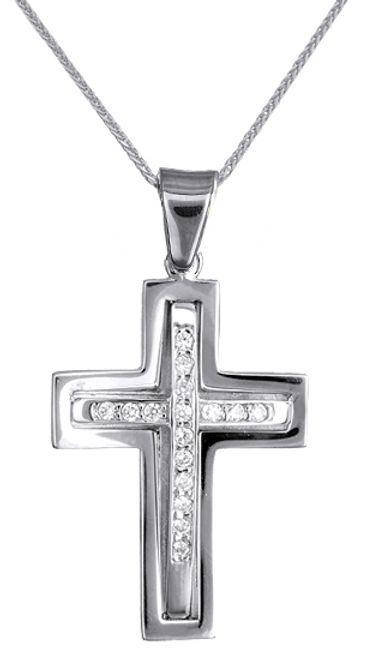 Βαπτιστικοί Σταυροί με Αλυσίδα Σταυρός γυναικείος με αλυσίδα c017699 017699C Γυναικείο Χρυσός 14 Καράτια