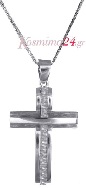 Βαπτιστικοί Σταυροί με Αλυσίδα Σταυρός βάπτισης c017705 017705C Ανδρικό Χρυσός 14 Καράτια