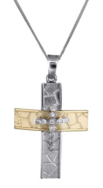 Βαπτιστικοί Σταυροί με Αλυσίδα Σταυρός για κορίτσι 14Κ c017858 017858C Γυναικείο Χρυσός 14 Καράτια
