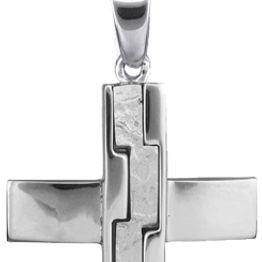 Βαπτιστικοί Σταυροί με Αλυσίδα Αντρικοί σταυροί λευκόχρυσοι C018244 018244C Ανδρικό Χρυσός 14 Καράτια