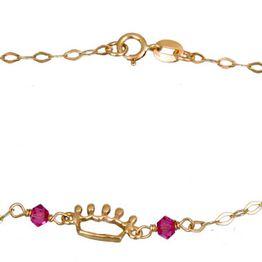 Χρυσό βραχιολάκι με κορώνα Κ9 020797 020797 Χρυσός 9 Καράτια