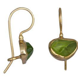 Χειροποίητα κρεμαστά σκουλαρίκια peridot 925 021035 021035 Ασήμι