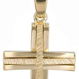 Βαπτιστικοί Σταυροί με Αλυσίδα Χρυσός βαπτιστικός σταυρός με αλυσίδα 14Κ C022046 022046C Ανδρικό Χρυσός 14 Καράτια