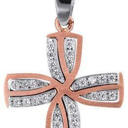 Βαπτιστικοί Σταυροί με Αλυσίδα Ροζ χρυσός γυναικείος σταυρός με αλυσίδα Κ14 C022806 022806C Γυναικείο Χρυσός 14 Καράτια