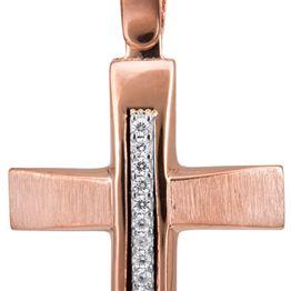 Βαπτιστικοί Σταυροί με Αλυσίδα Σταυρός βάπτισης για κορίτσι 14Κ C022836 022836C Γυναικείο Χρυσός 14 Καράτια