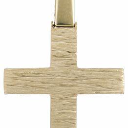 Βαπτιστικοί Σταυροί με Αλυσίδα Ανάγλυφος σταυρός Κ18 με αλυσίδα C023584 023584C Ανδρικό Χρυσός 18 Καράτια